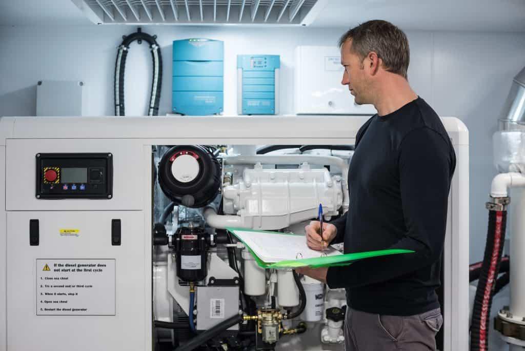 Servicing a home generator
